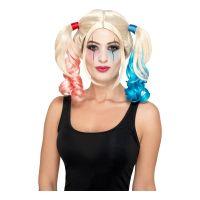 Bild på Harley Quinn Blond Peruk med Tofsar - One size