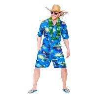 Bild på Hawaii Partykille Mörkblå Maskeraddräkt - Large