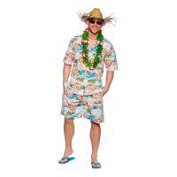 Bild på Hawaii Partykille Rosa Maskeraddräkt - Large