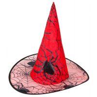 Bild på Häxhatt Röd med Spindelmönster