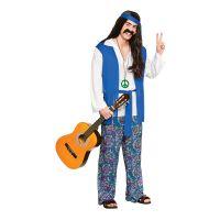 Bild på Hippie Blå Maskeraddräkt - Large