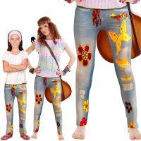 Bild på Hippie Leggings Flower Power (Vuxen - One size)