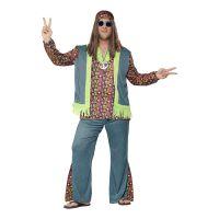 Bild på Hippie Man Plus-size Maskeraddräkt - Plus size