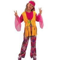 Bild på Hippie - maskeraddräkt barn tjej