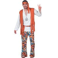 Bild på Hippie - maskeraddräkt budget man