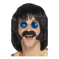 Bild på Hippie Polisonger & Mustasch Svart - One size