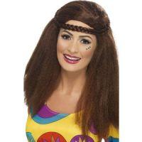 Bild på Hippiebrud peruk med lång Afro