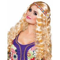 Bild på Hippieperuk Blond med Hårband