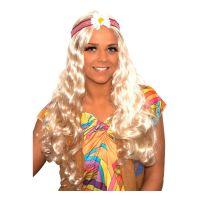 Bild på Hippieperuk Lång Blond - One size