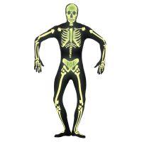 Bild på Hudnära självlysande skelett-dräkt