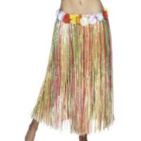 Bild på Hulakjol med blomma multifärgad lång