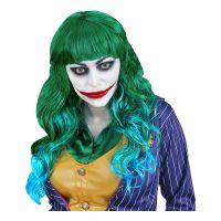 Bild på Joker Lång Grön/Blå Peruk - One size