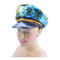 Bild på Kaptenshatt med Hawaiimönster - One size