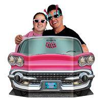 Bild på Kartongfigur 50-tals Rosa Cab Foto Prop