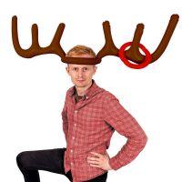 Bild på kasta ring på julrenen partylek