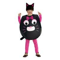 Bild på Katt med Stora Ögon Barn Maskeraddräkt - Large