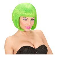 Bild på Kort Neon Grön Peruk - One size