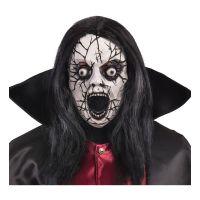 Bild på Krackelerad Zombie Mask med Hår - One size