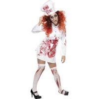 Bild på Kvinnlig slaktare blodigt förkläde - Medium