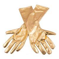 Bild på Långa Handskar Metallicguld - One size