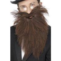 Bild på Långt skägg och mustasch brun