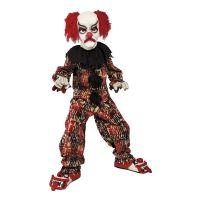Bild på Läskig Clown Barn Maskeraddräkt - Medium