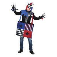 Bild på Läskig Clown i Låda Maskeraddräkt - One size