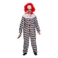 Bild på Läskig Clown med Peruk Maskeraddräkt - One size