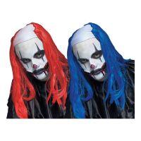 Bild på Läskig Clown Peruk - Blå