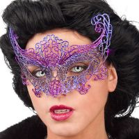 Bild på Lila Ögonmask med Glitter