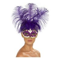 Bild på Lila Venetiansk Mask - One size