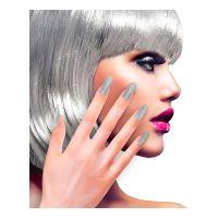 Bild på Lösnaglar Glitter Silver - 12-pack