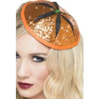 Bild på Magisk pumpa hatt - orange med glitter