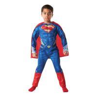 Bild på Man of Steel Superman Deluxe Barn Maskeraddräkt - Small