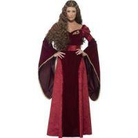 Bild på Medeltida drottning deluxe maskeraddräkt