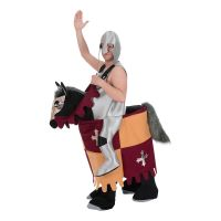 Bild på Medeltida Riddare på Häst Maskeraddräkt - One size