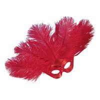 Bild på Ögonmask Lido med Plym - Röd