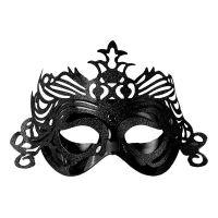 Bild på Ögonmask med Ornament - Svart
