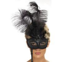 Bild på Ögonmask svart barock fantasy
