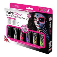 Bild på PaintGlow UV Day of the Dead Sminkset