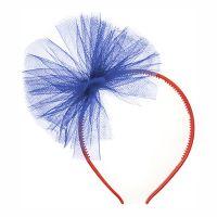 Bild på Pannband med Tyll Mörkblå - One size