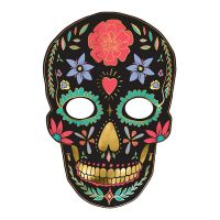 Bild på Pappersmask Dia de Los Muertos Svart - 1-pack
