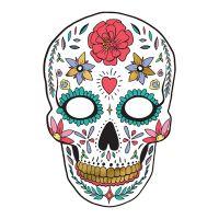 Bild på Pappersmask Dia de Los Muertos Vit - 1-pack