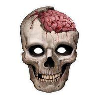 Bild på Pappersmask Döskalle med Hjärna