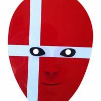 Bild på Pappmask  danska flaggan