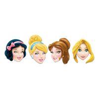Bild på Pappmasker Disney Prinsessor - 4-pack