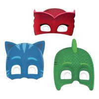 Bild på Pappmasker Pyjamashjältarna - 6-pack