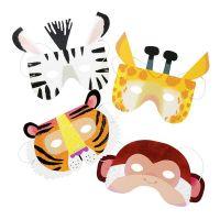 Bild på Party Animals Pappmasker - 8-pack