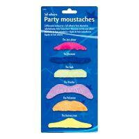 Bild på Partymustascher Flerfärgade - 6-pack