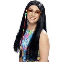 Bild på Peruk hippie svart